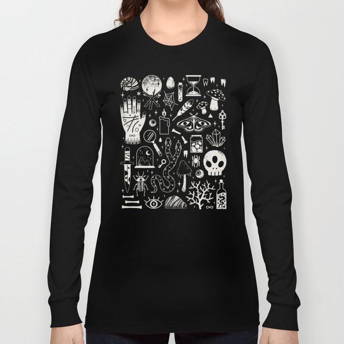 Curiosities: Bone Black Long Sleeve T-shirt