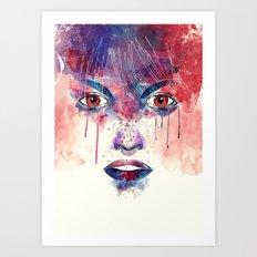 Um rosto aquarelável Art Print