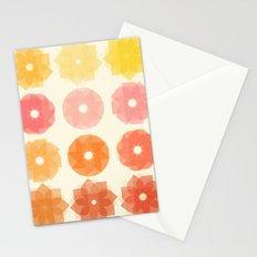 Geometric Flowers Stationery Cards