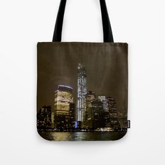 Freedom Tower New York City at Night Tote Bag