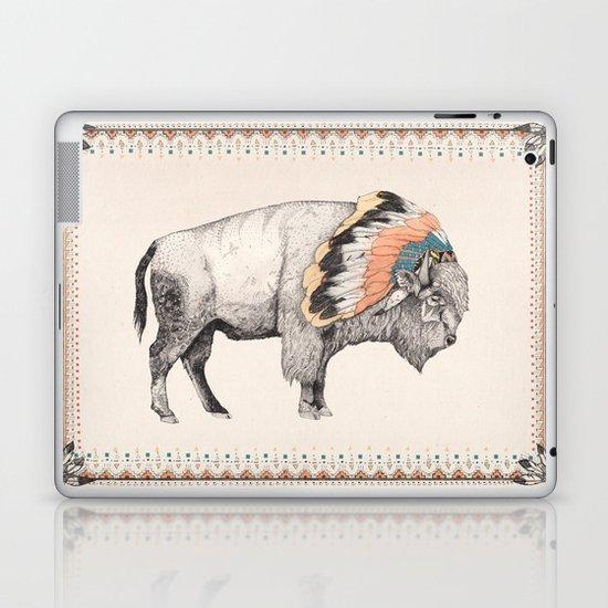 White Bison Laptop & iPad Skin