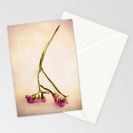 Abandoned Purple Flower Stationery Cards
