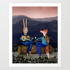 Smoky Mountain Gypsy Jazz Art Print