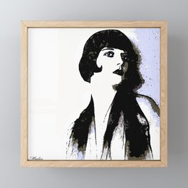 LOUISE BROOKS:  MY LOVE IS ALL I HAVE TO GIVE Framed Mini Art Print