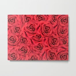 Radical Red Roses Metal Print