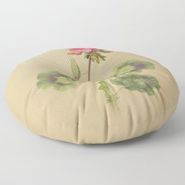 Geranium and Mantis Floor Pillow
