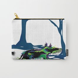 """Wolfdog"" Paulette Lust Original, Contemporary, Whimsical, Colorful Art Carry-All Pouch"