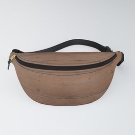 Pattern of honey-colored light wooden boards Fanny Pack