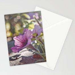 Purple Petunias Stationery Cards