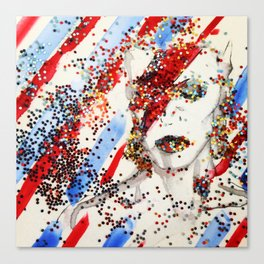 David Bowie Shines On Canvas Print