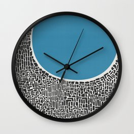 Abstract Blue Lake Wall Clock