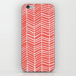Coral Herringbone iPhone Skin