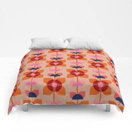 Retro floral pattern no4 Comforters