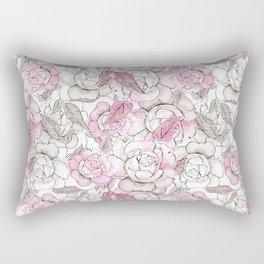 Silver peony dreams Rectangular Pillow