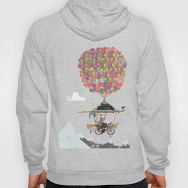 Riding A Bicycle Through The Mountains Hoody