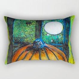 Moonlit Pumpkin Rectangular Pillow