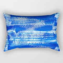 Cool & Calming Cobalt Blue Paint on White  Rectangular Pillow