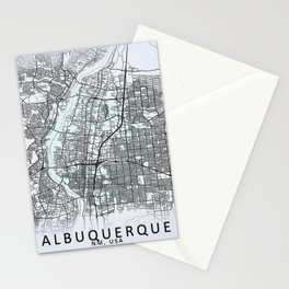 Albuquerque, NM, USA White City Map Stationery Cards