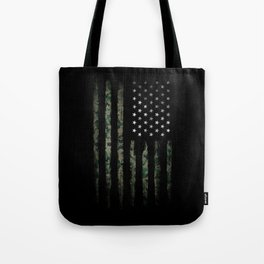 Khaki american flag Tote Bag