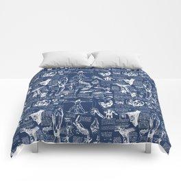 Da Vinci's Anatomy Sketchbook // Regal Blue Comforters