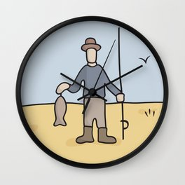 Beavid and Butthead Fisherman picture Wall Clock