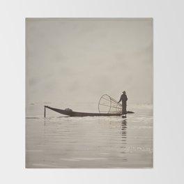 Inle Lake Myanmar Throw Blanket