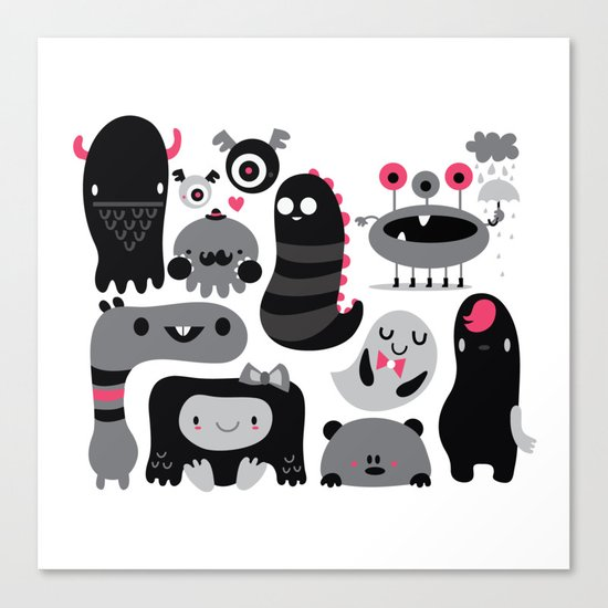 Monstruos Canvas Print