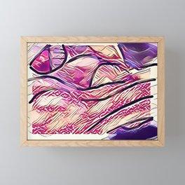 Spotted on the beach Framed Mini Art Print