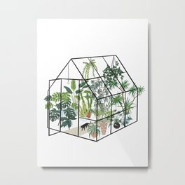 greenhouse with plants Metal Print
