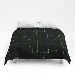 Electric Maze Comforters