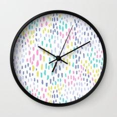 Rain in colors Wall Clock