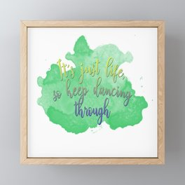 Dancing Through Life | Wicked Framed Mini Art Print
