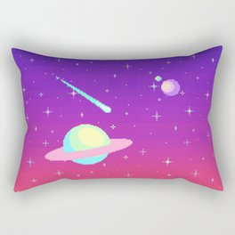 Pixelated Galaxy Rectangular Pillow