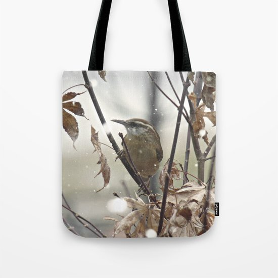 Carolina Wren in Winter Tote Bag