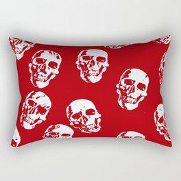Hot Skulls, red white Rectangular Pillow