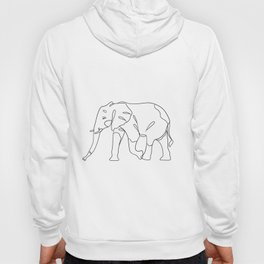 Elephant lineart Printable Art Wall Art Printable Home Decor Art Print Hoody