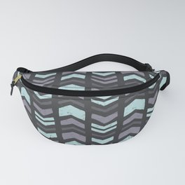 Mixed Chevron Fanny Pack