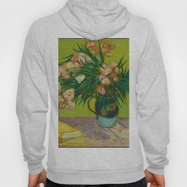 Copy of Vincent van Gogh Roses Floral Green Pink Hoody