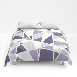 Geometric Pattern in purple and gray Comforters
