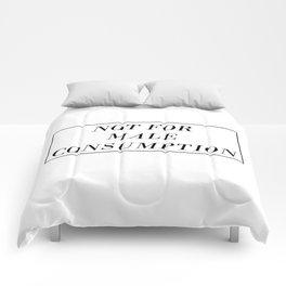 Male Consumption Comforters