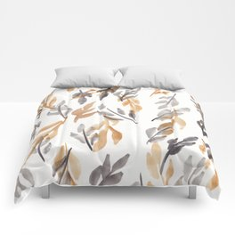 180726 Abstract Leaves Botanical 10 |Botanical Illustrations Comforters
