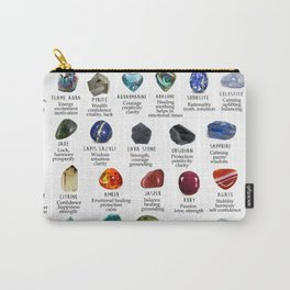 Crystal meanings and stone colours Carry-All Pouch