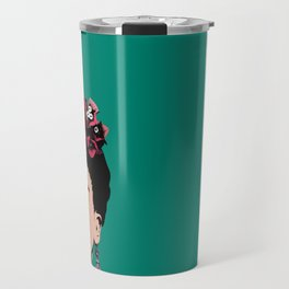 Floral Frida Travel Mug