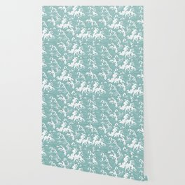 Traditional Hand Drawn Japanese Wave Ink Wallpaper