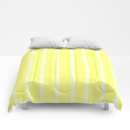 Butter Vertical Brush Strokes Comforters