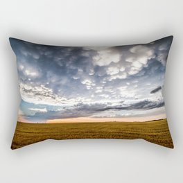 After the Storm - Spacious Sky Over Field in West Texas Rectangular Pillow