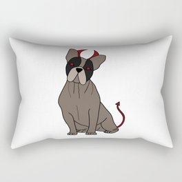 evil dog Doggie Puppy Hell Cute Present Gift Rectangular Pillow