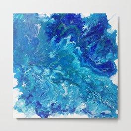 Dark Ocean Blue Metal Print