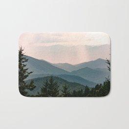 Smoky Mountain Pastel Sunset Bath Mat