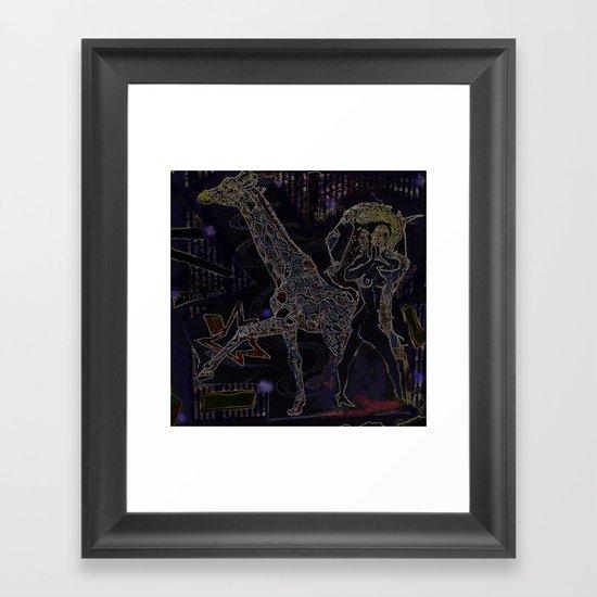 [when we] walk away Framed Art Print